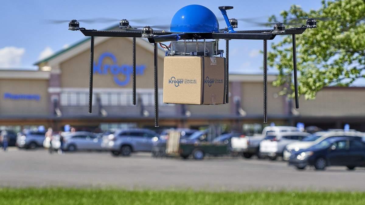 Продуктовий гігант тестує сервіс доставки замовлень дронами