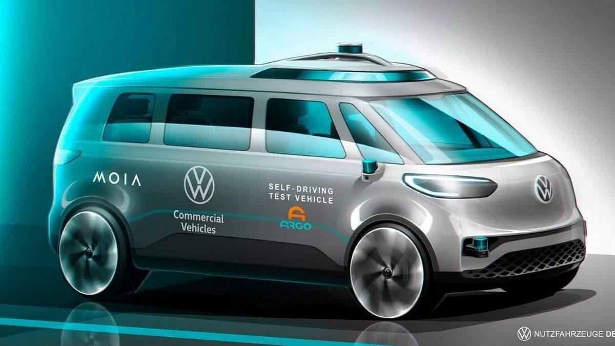 Volkswagen выпустит беспилотный электробус в стиле хиппи