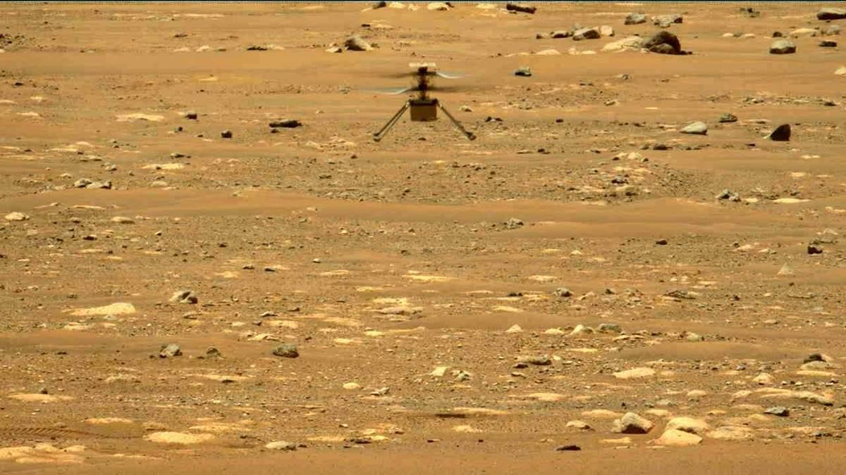 NASA опубликовало 3D-видео третьего полета марсианского вертолета Ingenuity