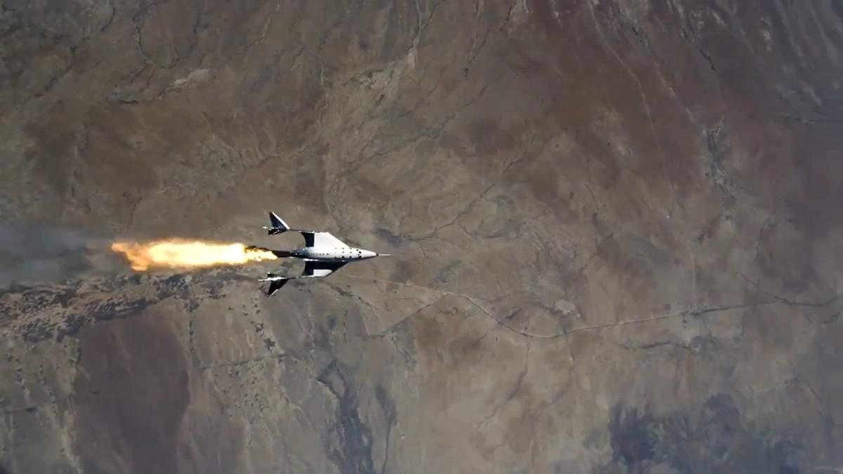 Самолет Virgin Galactic VSS Unity совершил успешный пилотируемый космический полет