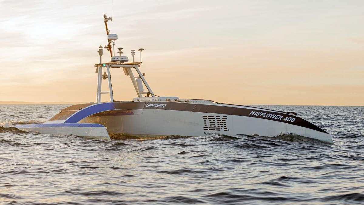 Корабель-дрон: автономне судно перетинає океан