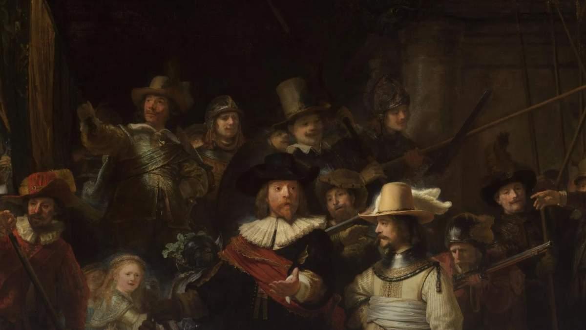 Искусственный интеллект восстановил картину Рембрандта Ночной дозор