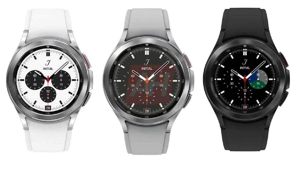 Рендеры Samsung Galaxy Watch 4 Classic в трех цветах