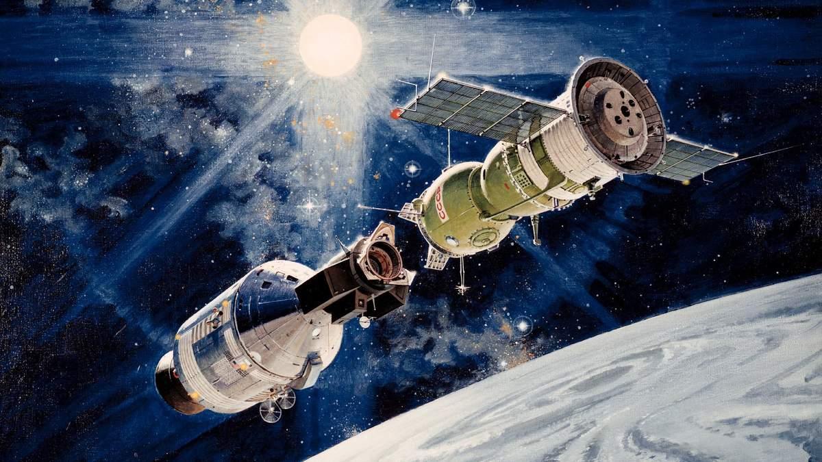 Союз-Аполлон: исторический полет двух космических кораблей