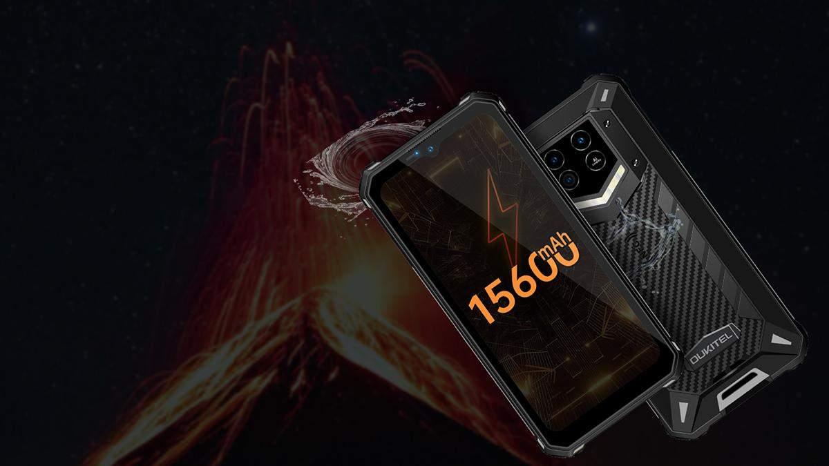 Oukitel WP15 – новый смартфон с батареей на 15 600 миллиампер-часов