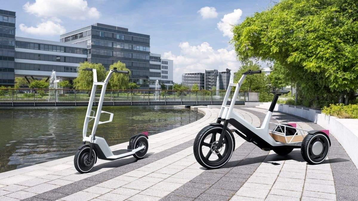 BMW показала дизайн трицикла с переменными модулями и электросамоката