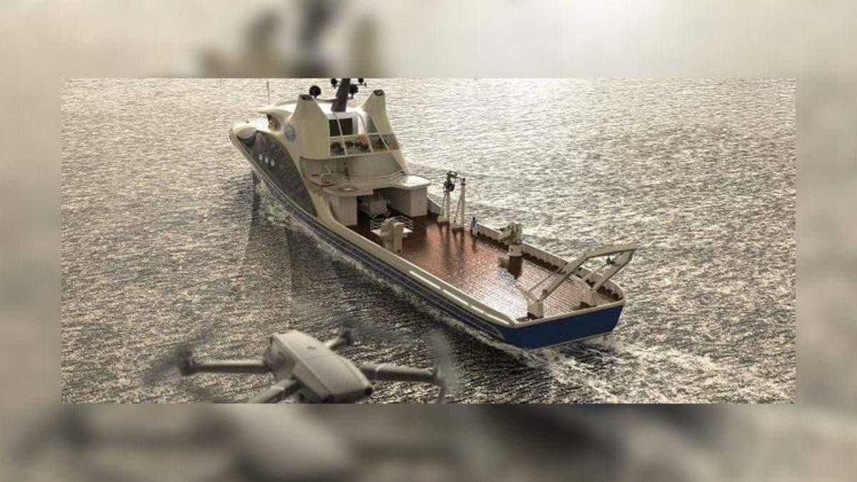 Китайцы начали строить автономную исследовательскую плавучую базу для роботов