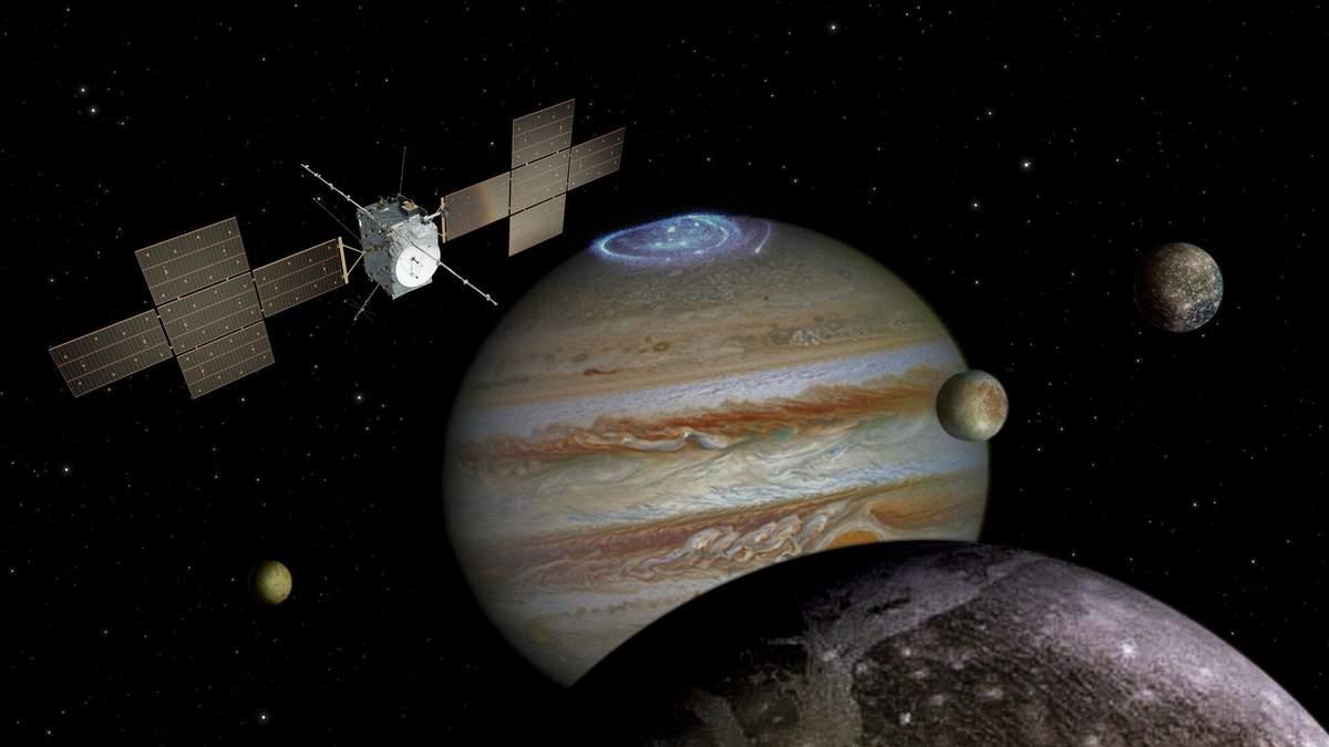Спутники Юпитера: межпланетная станция полетит к Юпитеру