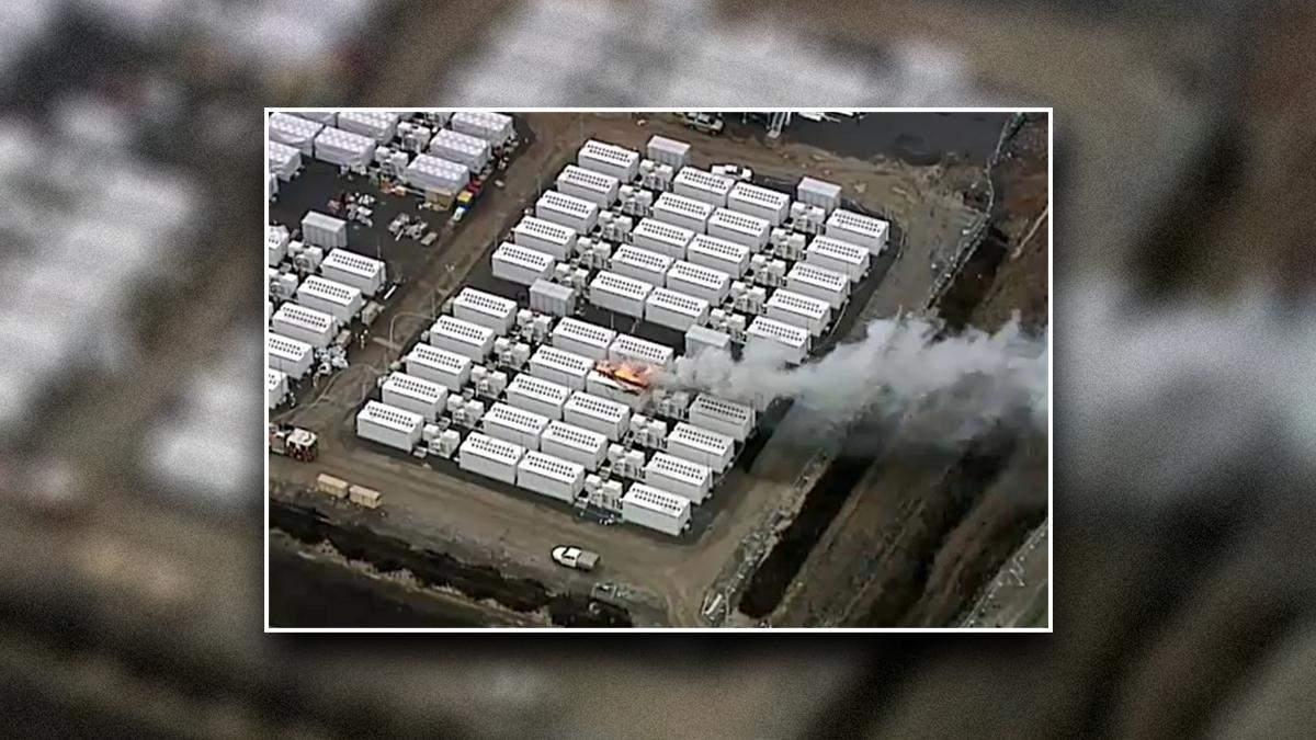 Во время испытаний хранилища электроэнергии вспыхнул Tesla Megapack