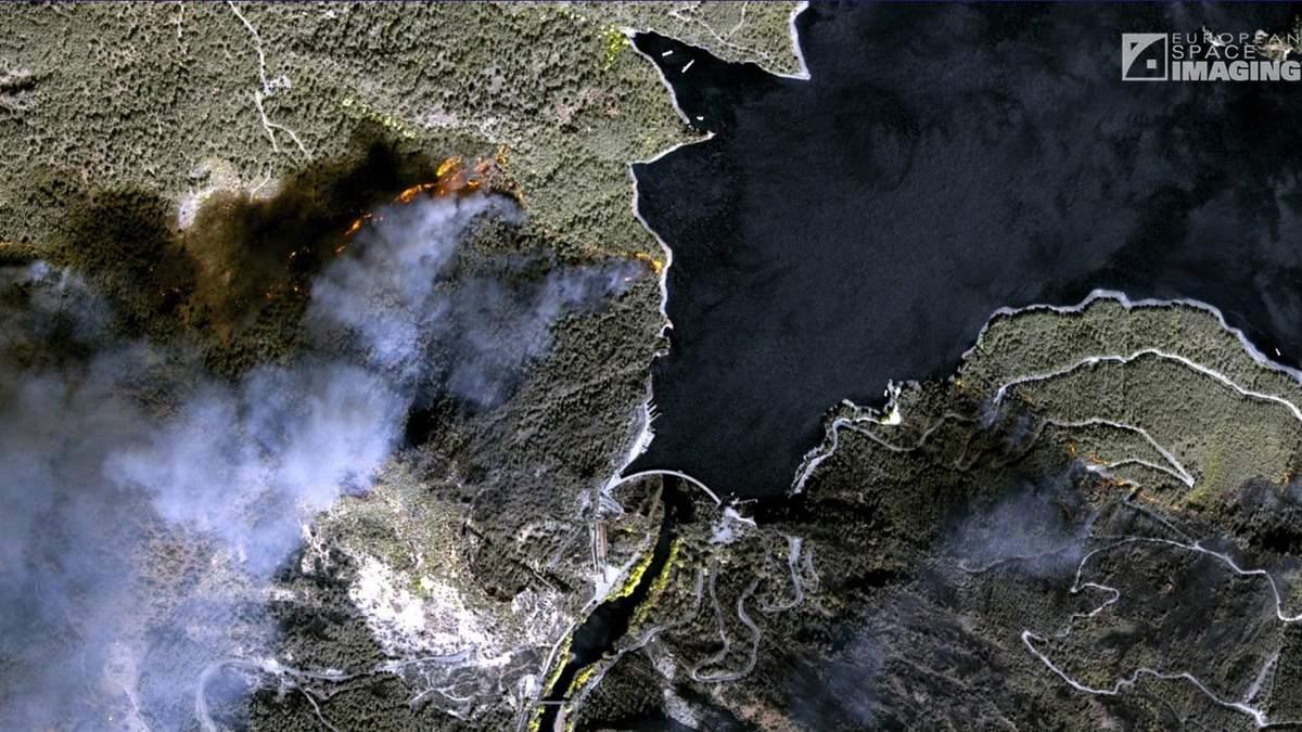 Пожары в курортной Турции: спутниковые фотографии пожаров в Турции