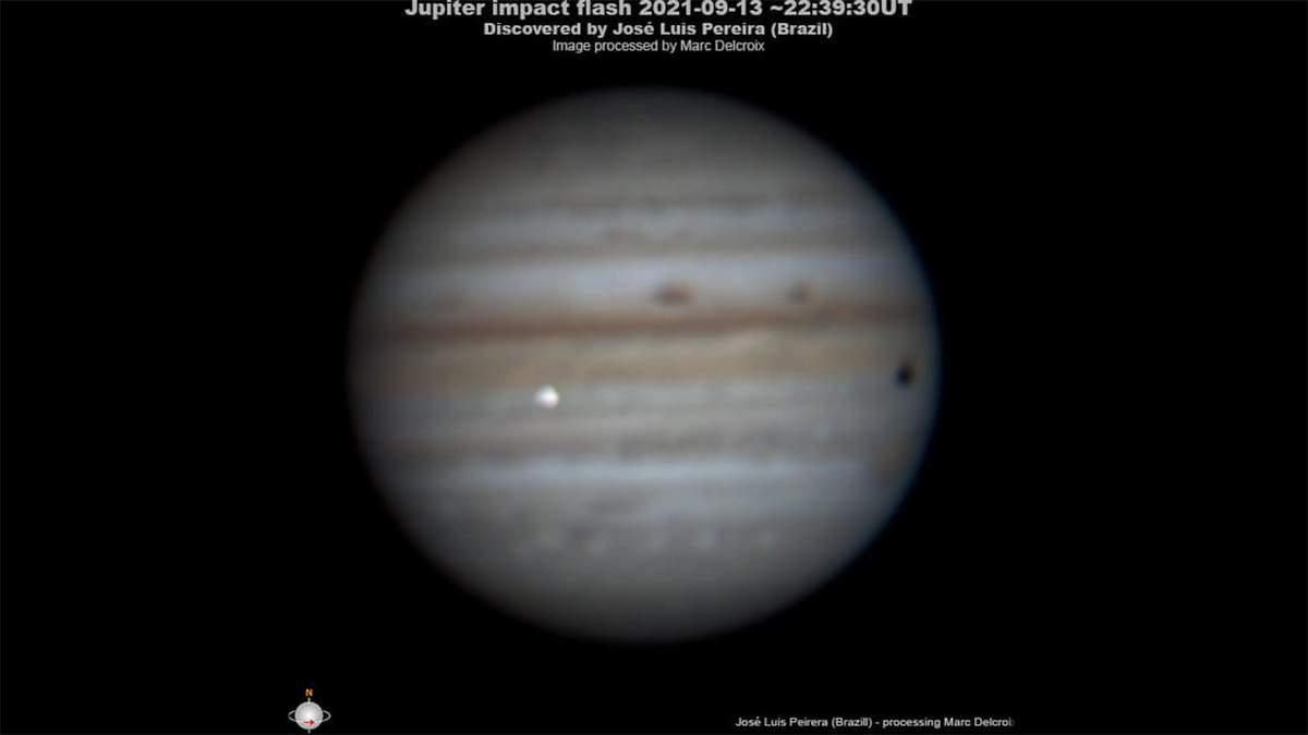 В Юпитер врезалось неизвестное космическое тело: видео редкого события