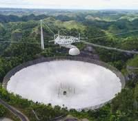 Демонтаж радиотелескопа Аресибо сняли из космоса