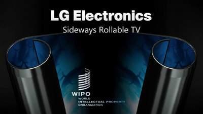 LG запатентувала унікальний телевізор, який згортається, як манускрипт