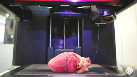 На 3D-принтері надрукували реалістичну модель серця: відео