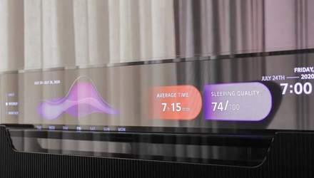 LG презентувала унікальний прозорий телевізор, що можна заховати у меблях