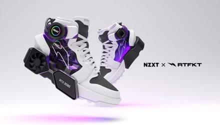 NZXT і RTFKT показали кросівки, схожі на міні-ПК з дисплеєм та копією GeForce RTX 3080