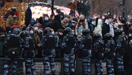 Задерживали во время митингов за Навального: данные силовиков публикуют в Телеграме, – ЗМІ