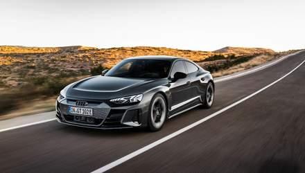 Audi представила елітний електрокар E-Tron GT: вражаючі фото, характеристики