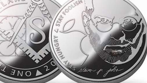 В Україні випустили монети зі Стівом Джобсом (Фото)
