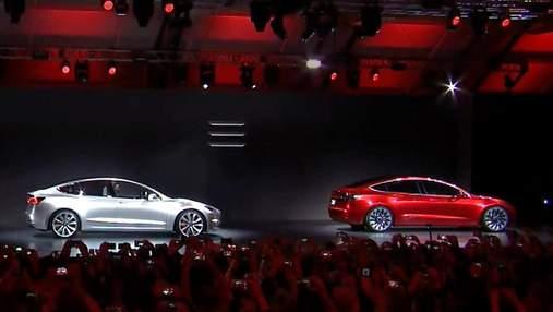 Первый доступный автомобиль Tesla, электрокар можно подзарядить от смартфона