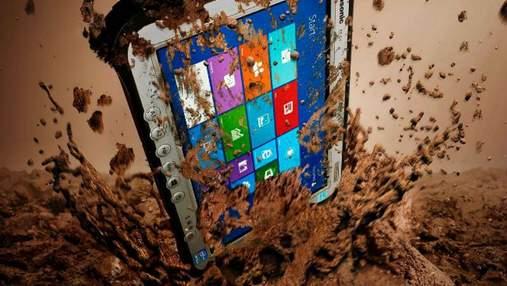 Разработчики представили планшет, который не боится ни воды, ни грязи