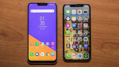 Asus представила смартфоны в стиле iPhone X