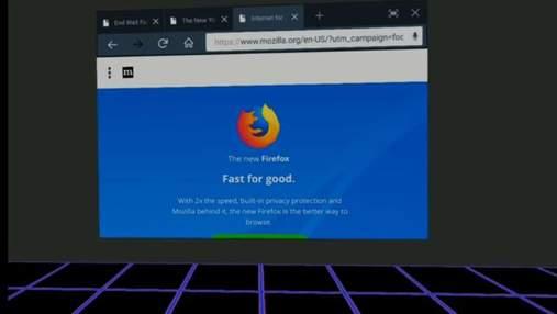 Mozilla представила браузер для виртуальной реальности