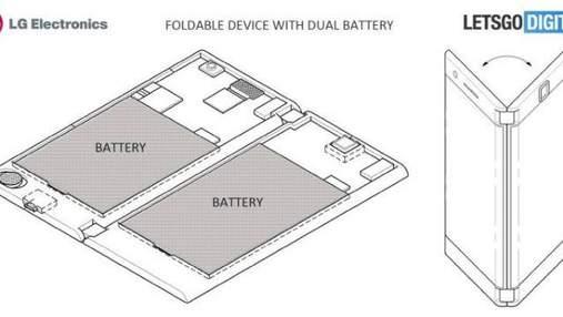 LG запатентовала складывающийся смартфон с двумя экранами: фото