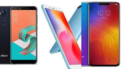 ТОП-3 найкращих смартфонів тижня: новинка від Asus, Xiaomi Redmi 6 та Lenovo Z5