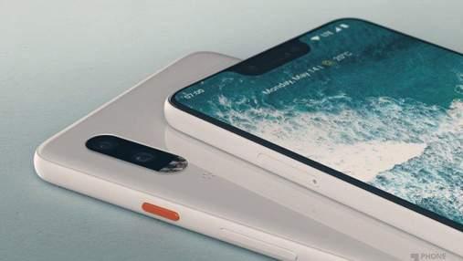 """""""Шпионские"""" фото подтвердили странный дизайн смартфона Google Pixel 3 XL"""
