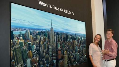 Єдиний у світі: LG показала перший OLED-телевізор з роздільною здатністю 8K