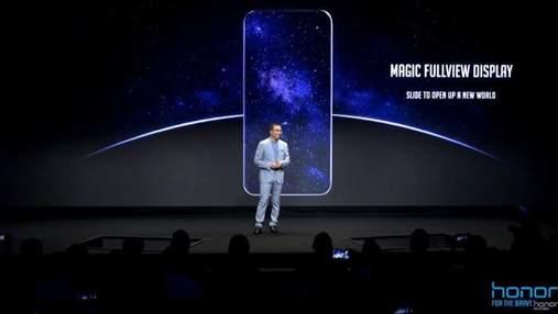 Huawei  заінтригувала знімком абсолютно безрамкового смартфона Honor Magic 2