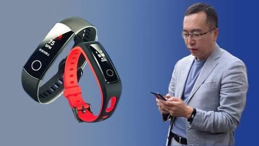 """Honor Band 4: голова бренду """"засвітив"""" головного конкурента фітнес-трекера Xiaomi Mi Band 3"""