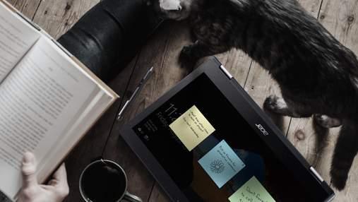 Acer представила в Украине ноутбуки-трансформеры: характеристики и цены