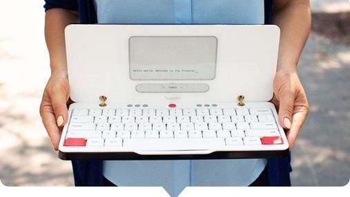 Создали необычный ноутбук, работающий по принципу печатной машины