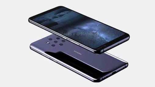 Nokia 9 з рекордною кількістю камер з'явилась на відео
