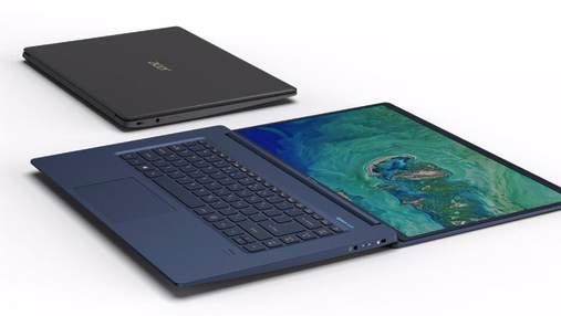 Acer презентувала в Україні найлегший 15,6-дюймовий ноутбук у світі