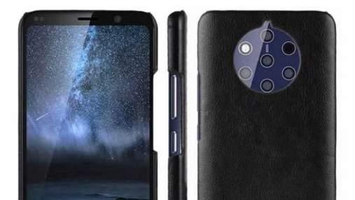 Смартфон Nokia 9 с пятью камерами показали на свежих снимках