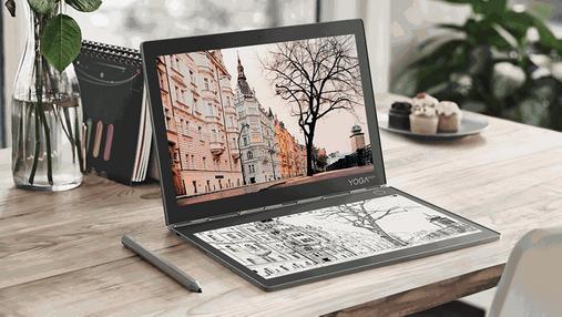 Lenovo представила в Україні ноутбук із двома дисплеями – Yoga Book C930