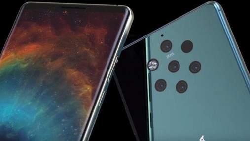 Смартфон Nokia 9 с 5 камерами появился на качественном рендере