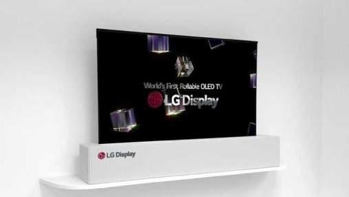 LG показала уникальный телевизор OLED TV R, который можно сворачивать в трубочку