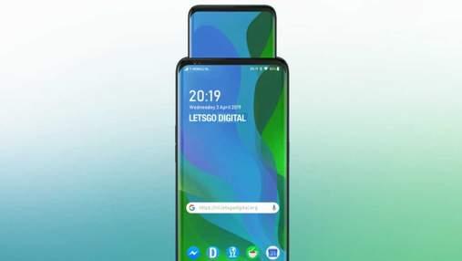Oppo запатентовала очень странный смартфон с еще одним выдвижным дисплеем