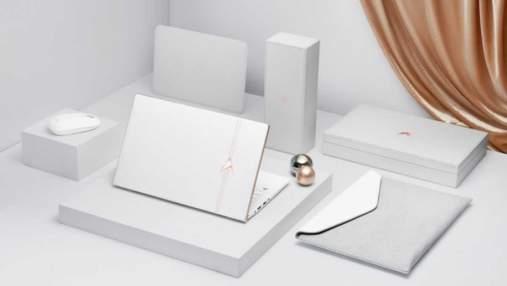Asus выпустила оригинальный ноутбук ZenBook Edition 30 с белой кожей и золотом