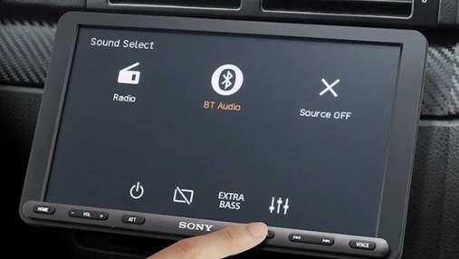 Sony выпустила магнитолу с большим дисплеем