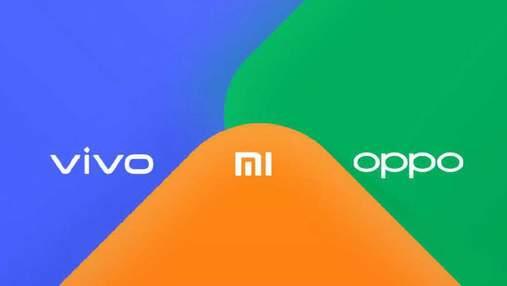 Компанії Xiaomi, Vivo і Oppo утворили альянс:  що про це відомо