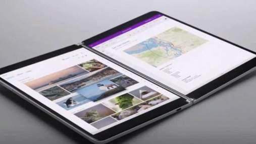 Microsoft представила два складных планшета