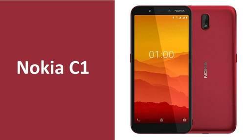 Nokia C1 – супербюджетний смартфон на Android Go Edition: характеристики й ціна