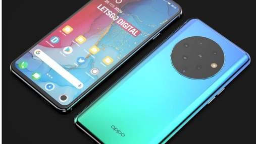 OPPO готовит смартфон с семью камерами: фото