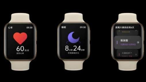 Клон Apple Watch: Oppo выпустила свои первые умные часы