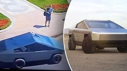 Как тебе такое Илон Маск: в центре Одессы заметили самодельную копию Tesla Cybertruck